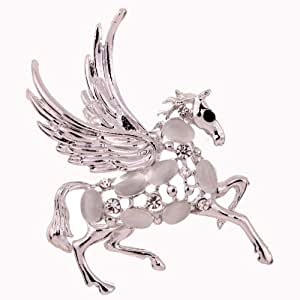 Amybria Schmuck Frauen Broschen Pferd Opal Brosche Bouquet Pins versilbert Schmuck