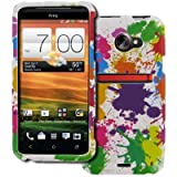 EMPIRE Sprint HTC EVO 4G LTE Design Case Cover (White Paint Splatter) [EMPIRE Packaging]