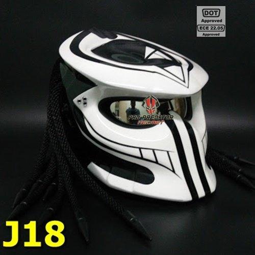 SY18 Custom Predator Motorcycle Dot Helmet Airbrush