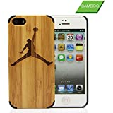 iPhone 5,5s Case,New Arrive Funny Graving Wood Case for iPhone 5 5s (Jordan)