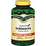 Spring Valley - Echinacea 760 mg, Whole Herb, 250 Capsules