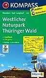 Westlicher Naturpark Thüringer Wald: Wanderkarte mit Kurzführer, Radwegen und Loipen. GPS-genau. 1:50000