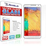 Samsung Galaxy Note 3 Screen Protector - Tempered Glass - Package Includes Microfiber Cleaning Cloth, Installation Tips, Tempered Glass Screen Protector - Retail Packaging - by TruShield