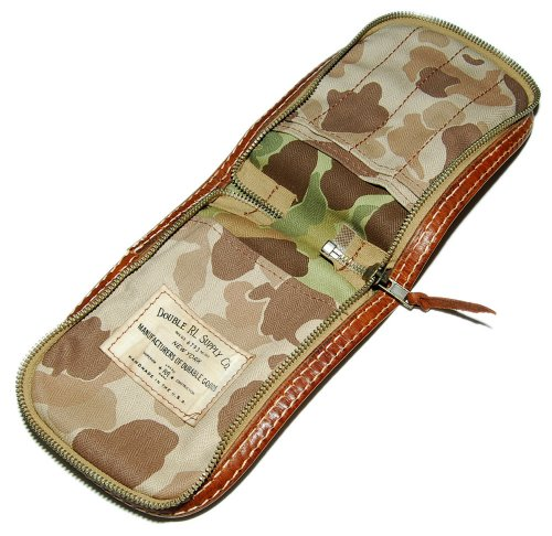 Polo Ralph Lauren RRL Mens Camo Leather Bag Pouch Wallet