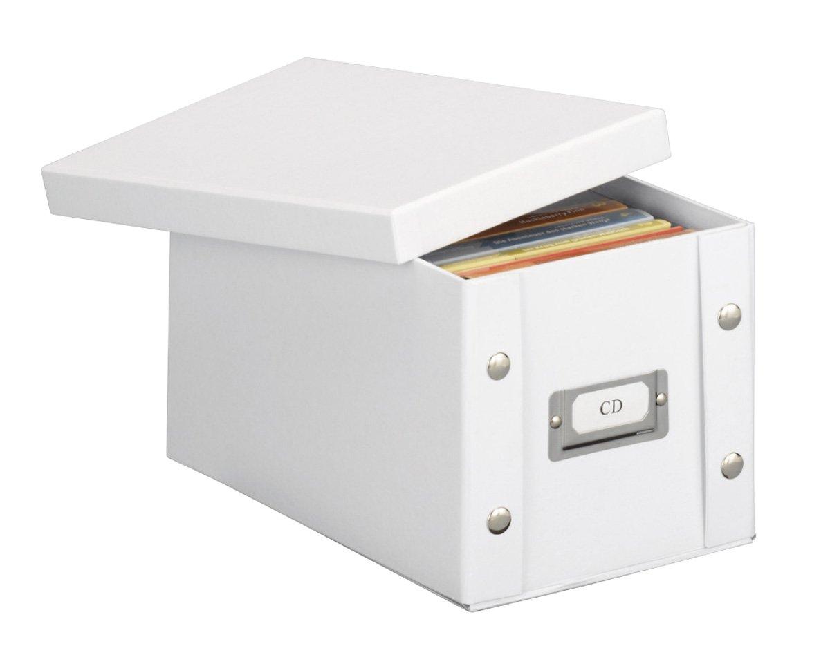 Zeller 17760 - Caja de cartón para CD (16,5 x 28 x 15 cm), color blanco   Comentarios y más información
