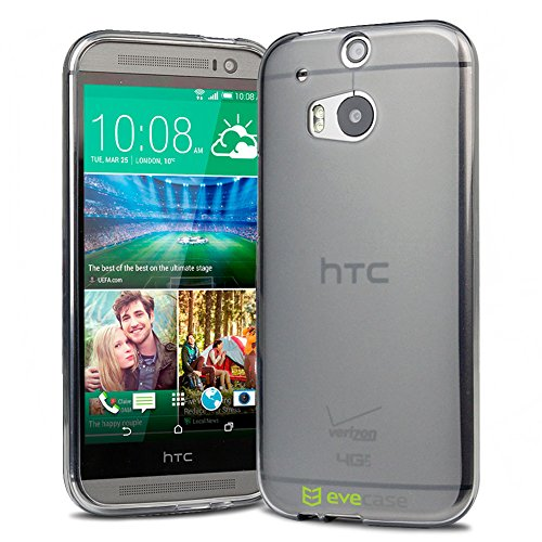 Evecase Htc One (M8) Case, Slim Fit Flexible Tpu Case For Htc One (M8) And Htc One (M8) For Windows (2014 Edition) - Gray