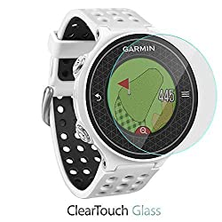 Garmin Approach S6 Screen Protector, BoxWave [ClearTouch Glass] 9H Tempered Glass Screen Protection for Garmin Approach S6