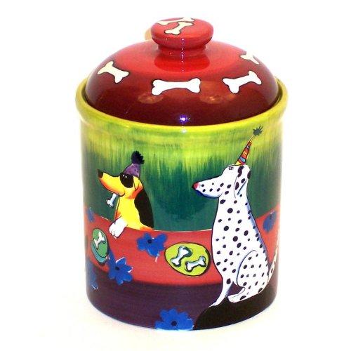 Ceramic Dog Treat Cookie Jar