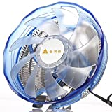 GOLDEN FIELD ICE200 CPU Air Cooling Cooler PC Radiator Heatsink with Low Noise LED Fan for AMD and Intel Sockets (Color: ICE200, Tamaño: ICE Series)