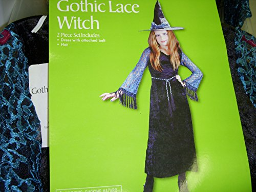 Gothic Witch Blue Black Costume Dress-up Hat 7-8 NWT
