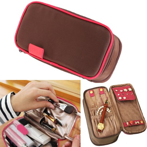 Waterproof Bag Organiser/Cosmetic Case/Jewellery Case/Travel Organiser(Brown)