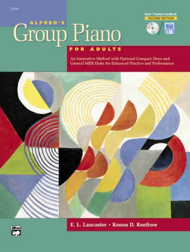 Alfred's Group Piano for Adults Teacher's Handbook, Bk 1 (Alfred's Basic Adult Piano Course)