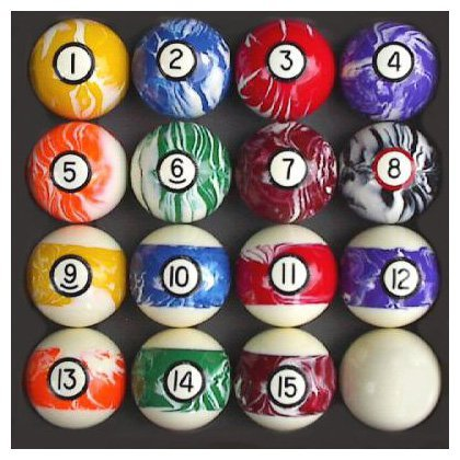 Find Bargain Pool Table Billiard Ball Set, Swirl/Marble Style