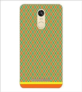 PrintDhaba Diamond Pattern D-1484 Back Case Cover for XIAOMI REDMI NOTE 3 MEDIATEK (Multi-Coloured)