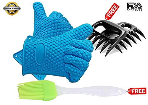 high-quality-blue-silicone-heat-resistant-barbecue-gloves-and-free-pulled-meat-claws-set-with-free-s