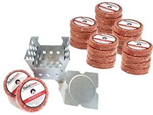 Cube Emergency Survival Cook Stove - Box Camp Cooking Quick Stove with 10 Hour Fuel Disk Supply - Great For Hiking, Camping, Fishing, Hunting, Disaster Preparedness, More.