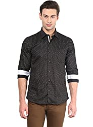 GIVO Black Solid Casual Shirt