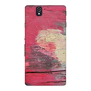 Vintage Red Yellow Print Back Case Cover for Sony Xperia Z