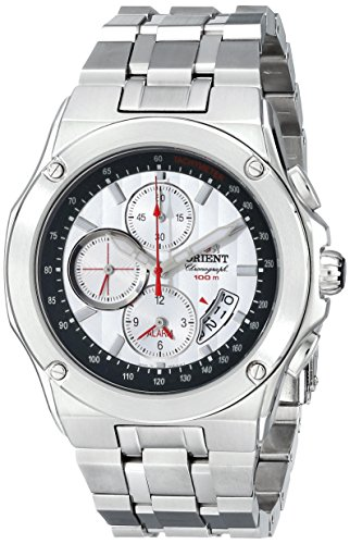 Orient Men's CTD0S002W 100m Alarm Chronograph in 1/5 Second, Small Second Hand, Date White Watch