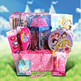 Giftbasket4kids Disney Princess Accessory Gift Basket Perfect Birthday, Get Well Gift Baskets for Girls Under 10