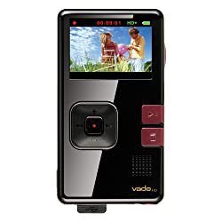 Creative Vado HD Pocket Video Camera 8GB (Black Gloss with Maroon Accents)