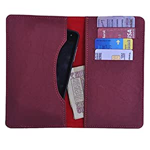 DCR Pu Leather case cover for Spice Stella 600 (red)