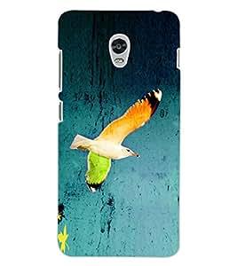ColourCraft Beautiful Bird Design Back Case Cover for LENOVO VIBE P1