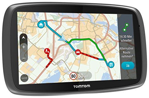 TomTom-Go-6100-World-Navigationssystem-15-cm-6-Zoll-kapazitives-Touch-Display-Magnethalterung-Sprachsteuerung-mit-TrafficLifetime-Weltkarten