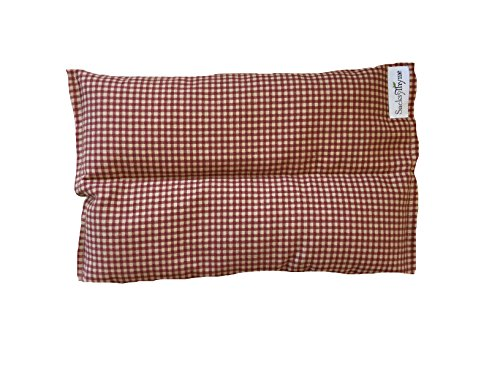Ultra Premium All Natural Microwavable Aromatherapy Heating Pads - Certified Organic Herbs, Organic Flaxseed & Cherry Pit Filler- Red Gingham (Herbal Microwaveable Heat Pad compare prices)