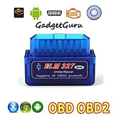 GadgetGuru Super mini elm327 bluetooth OBD2 OBD II Scanner ELM 327 Bluetooth Smart Car Diagnostic Interface