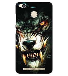 Chiraiyaa Designer Printed Premium Back Cover Case for Xiaomi Redmi 3S Prime (fox angry black danger) (Multicolor)