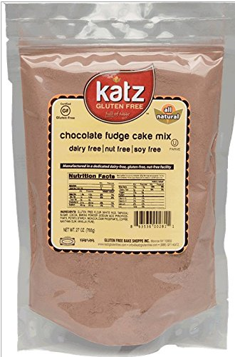 Katz Gluten Free Chocolate Fudge Cake Mix, 27 Ounce, Certified Gluten Free - Kosher - Dairy, Nut & Soy free - (Pack of 6)
