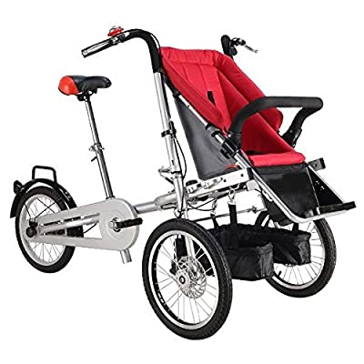 3 Wheels Folding Bicycle 16inch Pushchair Mother Baby Stroller Bike Carrier 3 in 1 by Seekride that we recomend personally.
