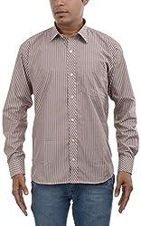 Major Sab Men's Casual Shirt MS944L8_Brown_XXL