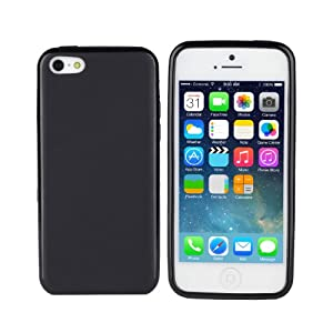 TeckNet New Apple iPhone 5C Slim Soft Gel Cover Case for Apple New iPhone 5 C - Black