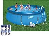 "Intex 18' x 48"" Easy Set Swimming Pool Kit w/ 1500 GPH GFCI Filter Pump"