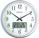ディンプル 掛け時計 電波時計 温度、湿度 表示 DRU865SL