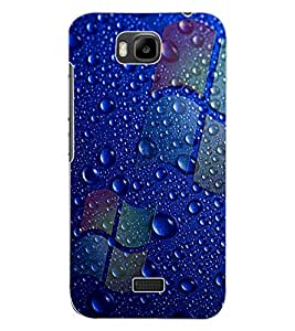 ColourCraft Water Drops Design Back Case Cover for HUAWEI HONOR BEE