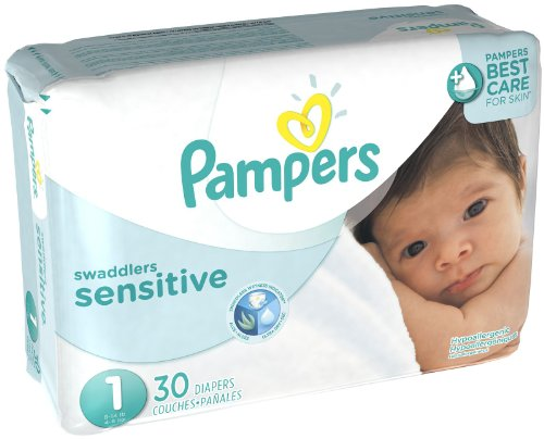 Pampers Swaddlers Sensitive Diapers - Size 1 - 30 ct - 1