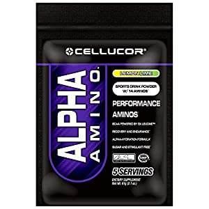 Cellucor Alpha Amino BCAA Supplement, Lemon Lime, 5 Count
