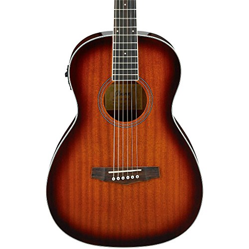Ibanez Pn12e Mahogany Parlor Acoustic-Electric Guitar Vintag