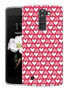 "Solid Hearts Inverted Printed Designer Mobile Back Cover For ""LG K10"" By Humor Gang (3D, Matte Finish, Premium Quality, Protective Snap On Slim Hard Phone Case, Multi Color)"