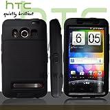 HTC EVOケース スクリーン プロテクター付属3重構造 (au WiMAX ISW11HT Screen Protector Case ) 【黒 × 黒】