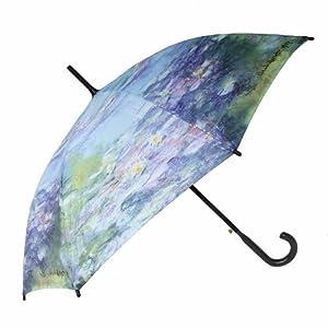 Parapluie droit imprimé avec une peinture de Claude Monet - Les Nymphéas