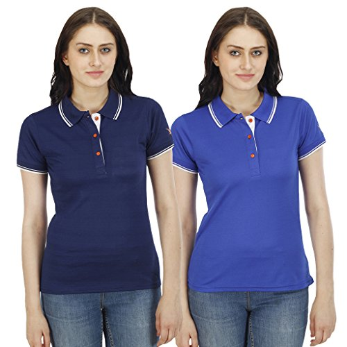 Combo-of-PRO-lapes-Womens-Polo-T-Shirt-with-Tipping