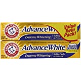 Arm & Hammer Advance White Extreme Whitening Baking Soda and Peroxide Toothpaste, 6 Ounce Twin Pack