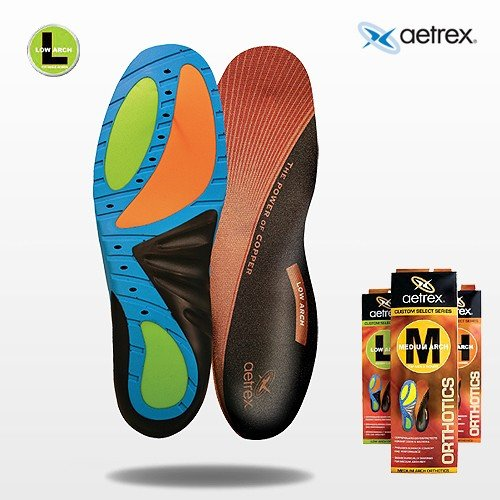 Men's Low Arch Support Insoles | Aetrex Orthotics (11 UK)