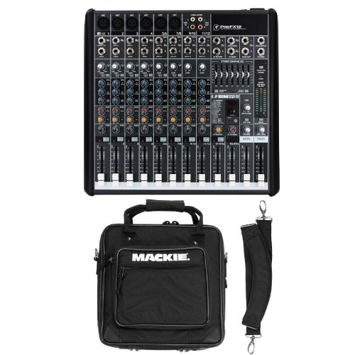 Read About Mackie ProFX12 12 Channel Mixer with Mackie Mixer Bag Bundle
