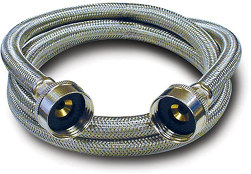 Kissler 88-3072 Braided Washing Machine Connector, 3/4-Inch By 3/4-Inch, Stainless Steel front-563623