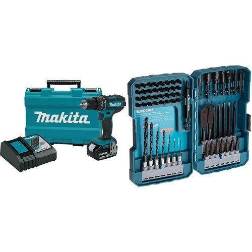 Lowest Price! Makita XPH102 18V LXT Lithium-Ion Cordless 1/2 Hammer Driver-Drill Kit (3.0Ah) with 7...